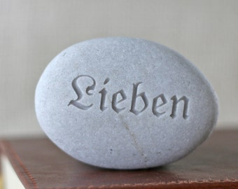 Lieben - Love in German - Engraved Ready Gift