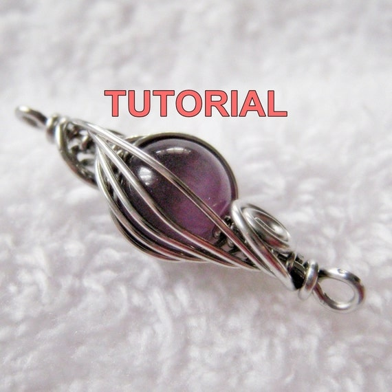 WIRE JEWELRY Tutorial - Caged Herringbone Woven Bead with FREE Two Tone Herringbone Woven Ring