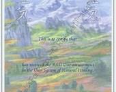 Peaceful Mountains Reiki Certificate Template