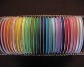 """65% OFF--3/8"""" FULL ROLL of Solid Grosgrain Ribbon--50 yards--Ready to Ship--Limited Colors Available"""