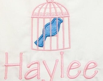 PILLOWCASE Bird Cage Personalized FREE