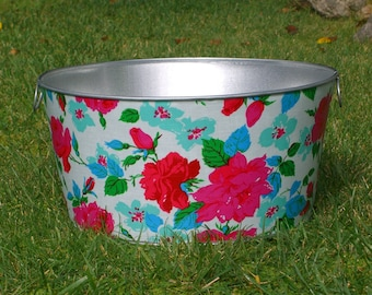 Drink and Beverage Tub Large Round Galvanized Party Tub Sky Eloise