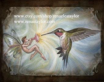 Hummingbird song, Post Card by Renae Taylor