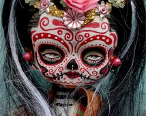 Dia De Los Muertos Doll PRINT 331 from sculpture by Michael Brown/UC Studios