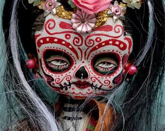 Dia De Los Muertos Doll PRINT 331 from sculpture by Michael Brown/UC Studios