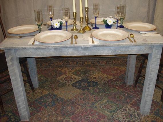 "Items similar to Farmhouse Whitewashed Table 50"" x 27"" x 29""H"