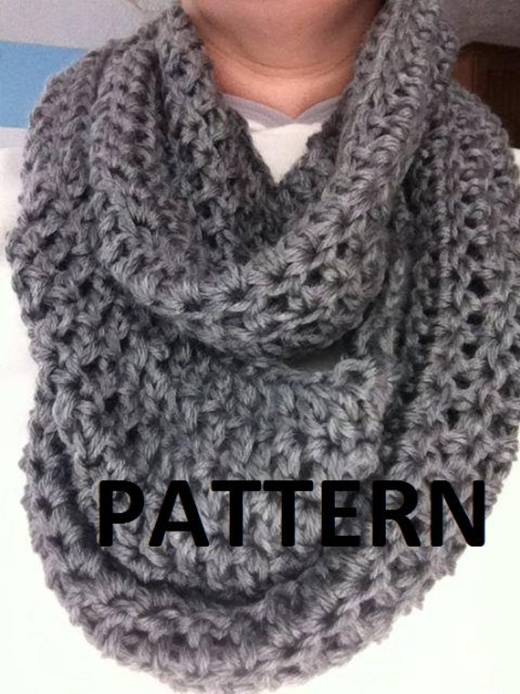 Free Patterns To And Crochet Infinity Scarf : Crochet Pattern : Womens Infinity Scarf Pattern Infinity