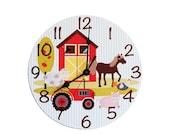 Farm House Children's Clock