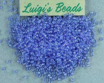 11/0 Toho Japanese Seed Beads Trans-Rainbow Lt Sapphire 15g
