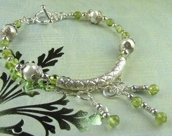 Peridot Gemstone Bracelet  (Alyssa)  by Gonet Jewelry Design