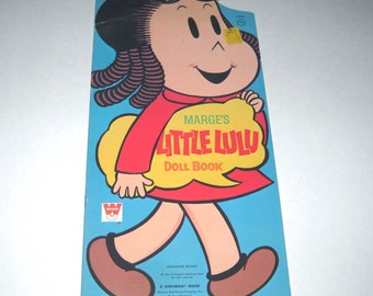 Vintage 1970s Marge's Little Lulu Doll Paper Doll Book for Children Uncut by Whitman, Comic Strip