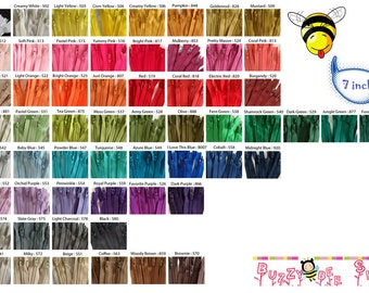 7 Inch YKK Zippers - Set of 50 pcs - Choose your own color combination