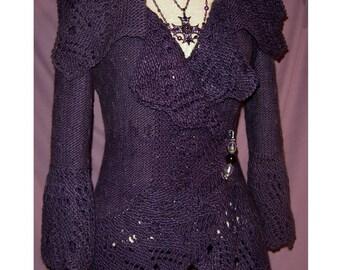 Emma Cardigan Knitting Pattern-PDF