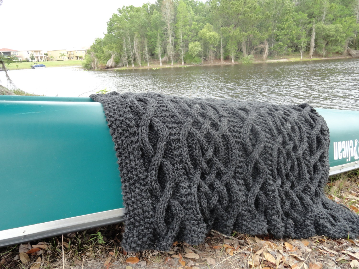 Cable Knit Throw Pattern : cable knit blanket pattern by CraftartStudio on Etsy