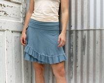 Simple Ruffled Skirt Organic Cotton and Bamboo