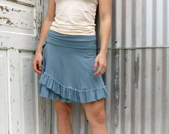 Organic Cotton and Bamboo Simple Ruffled Skirt