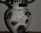 Custom PET URN for dogs bulldog any breed and cats MEDIUM