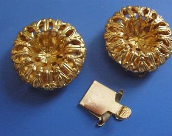 Vintage Brass Clasp (2) One Strand