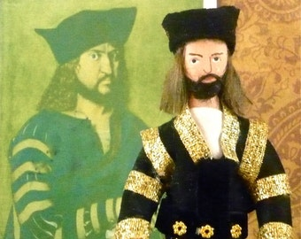 King Harold ll of England Doll Miniature Historical Collectible