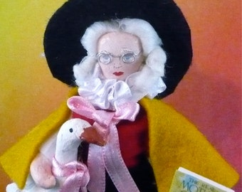 Mother Goose Doll Miniature Nursery Rhymes Fairy Tale Art