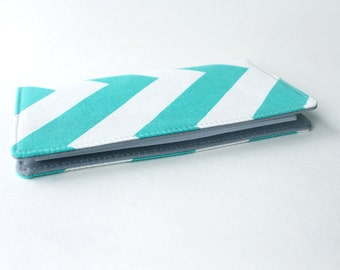 Teal Chevron Checkbook Cover