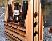 Personalized Laser Engraved Wood Beer Carrier Flight Paddle Sampler - Perfect for Wedding Party Custom Gift