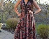 Silky Maxi Boho Scarf Dress Size Miss One Sizde 0-12
