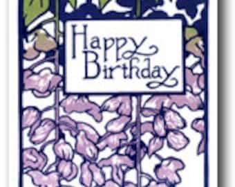 Wisteria Birthday Card