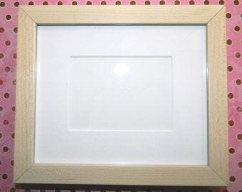 ACEO Frames - Maple Natural or White Washed with Mat