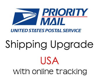 Shipping upgrade to USPS Priority mail with online tracking
