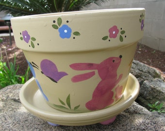 Spring Easter Flower Pot