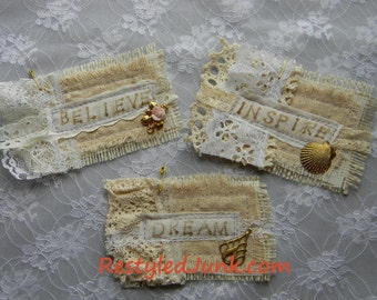 Scrappy Fabric Tags-Set of 3