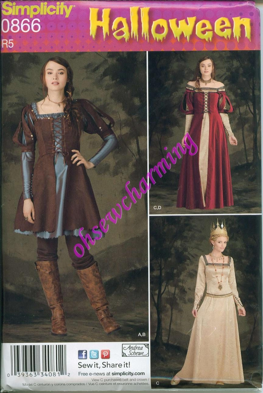 Simplicity 1773 Snow White Huntsman Evil Queen Costume Pattern