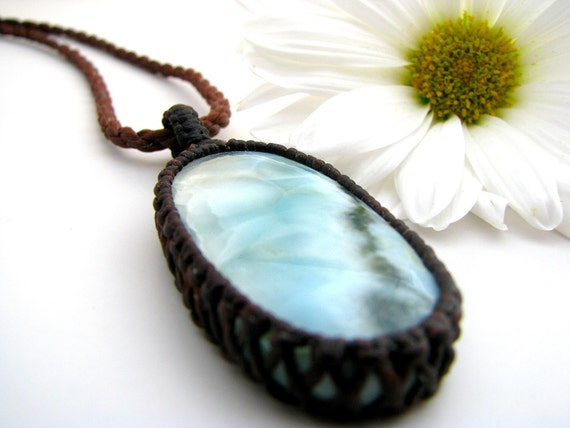 Larimar Gemstone Necklace / Larimar Jewelry / Ocean Inspired / Sea / Unique / Healing Gemstones and crystals / Boho chic / Dolphin stone