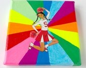 Rainbow Collage // Cheerleader // Fluorescent Bright Home Decor