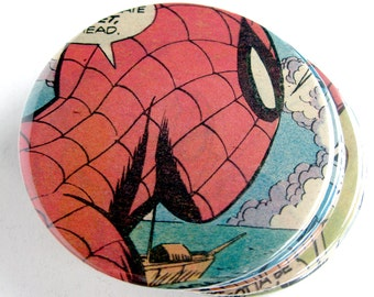 Spider-Man Coasters // Recycled Vintage Comic Book