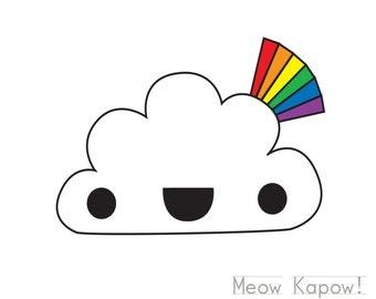 Rainbow & Cloud Card // Rainbow Attack