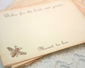 Wedding Wish Cards Wishing Cards Guest Book Alternative Vintage Bee Hive Set of 10