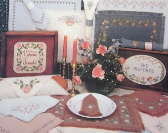 Candlelight and Roses Cross Stitch Pattern