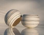 Colorful porcelain candle holder - Tea light holder Design N.9 (Black stripes). Crafted by Wapa Studio.