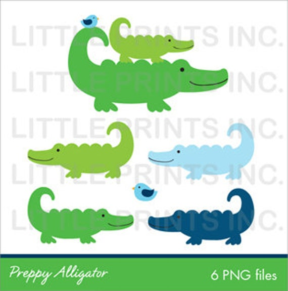 Preppy Alligator Clipart INSTANT DOWNLOAD by ...