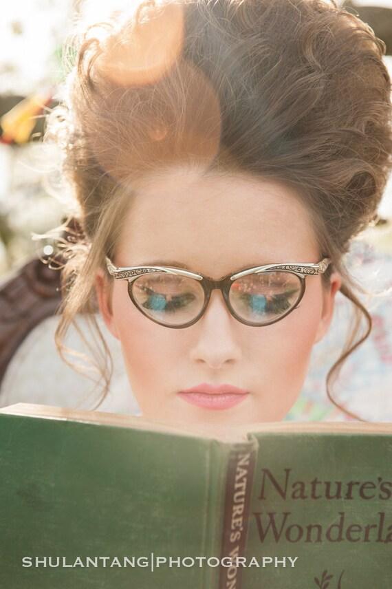 Vintage Aluminum and Copper Cateye Eyeglass Frames