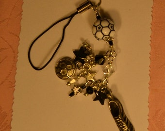 Soccer Ball, Cell Phone/iPod Charm Strap