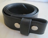 Recycled Rubber Snap Belt for interchangeable buckles.  Upcycled, green, environmentally friendly and free trade.  Unisex.  Great gifts!