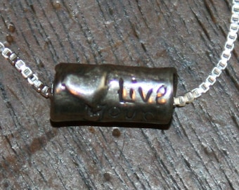 Live Your Best Life Now Sterling Silver DeSIGNeR Necklace Inspirational Unique Trendy Gift Idea