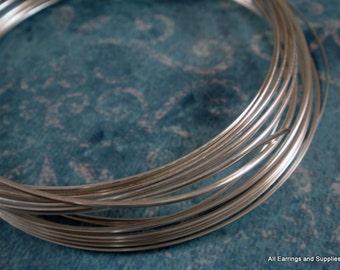 Half Round Wire Silver Plated Non-Tarnish 21 Gauge Soft Tempered - 12 feet - STR9065WR-HRS12