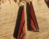 Deco Inspired Earrings - Bloodwood and Ebony