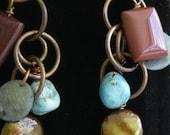 Mooakite, Labradorite Dangle Earrings