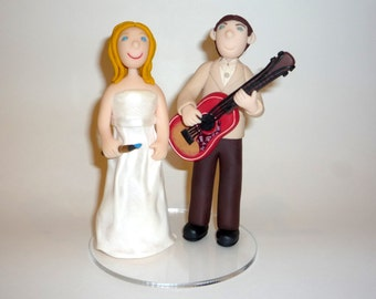 Wedding cake topper-custom designs personalized for you - guitar sample photos