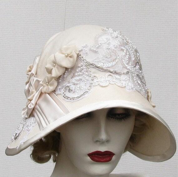 Couture Edwardian Hat Vintage Style Wide Brimmed Summer Bridal